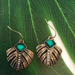 Palm leaf jewelry set